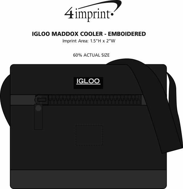 Imprint Area of Igloo Maddox Cooler - Embroidered