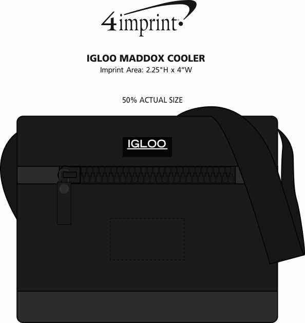 Imprint Area of Igloo Maddox Cooler