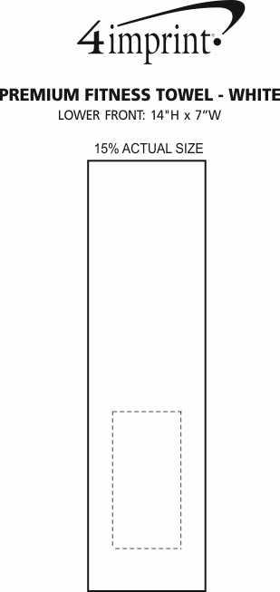 Imprint Area of Premium Fitness Towel - White