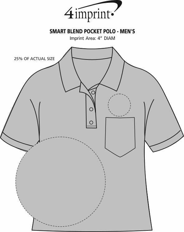 Imprint Area of Smart Blend Pocket Polo - Men's