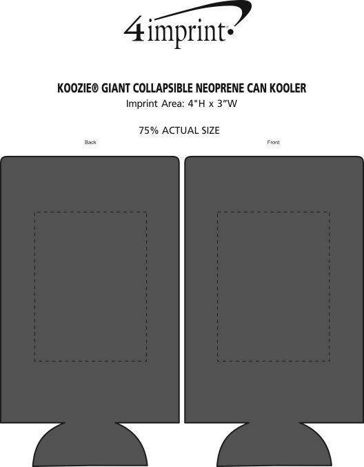 Imprint Area of Koozie® Giant Collapsible Neoprene Can Kooler