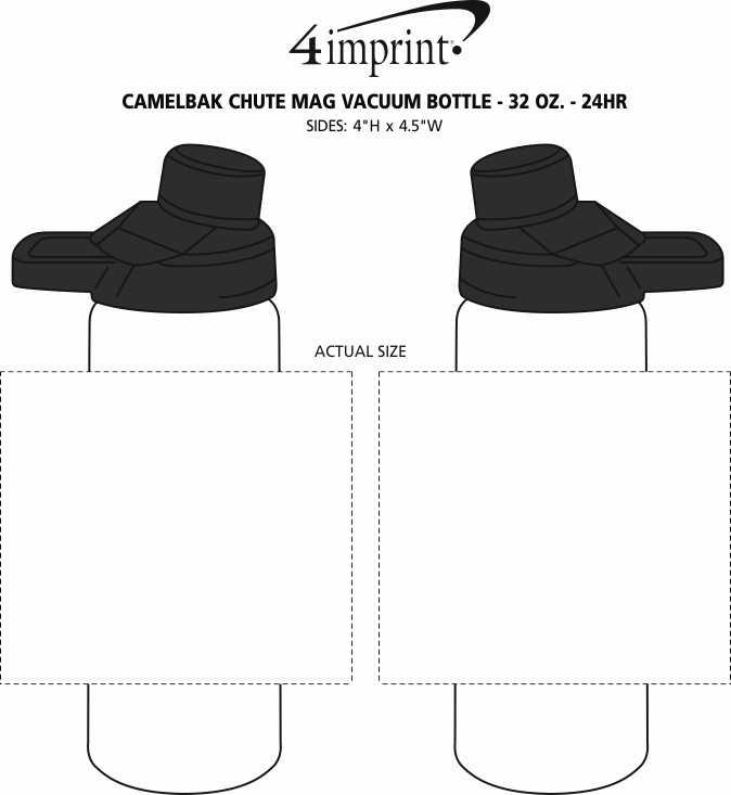Imprint Area of CamelBak Chute Mag Vacuum Bottle - 32 oz. - 24 hr