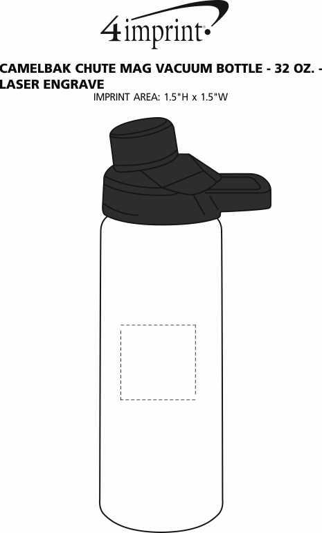 Imprint Area of CamelBak Chute Mag Vacuum Bottle - 32 oz. - Laser Engraved