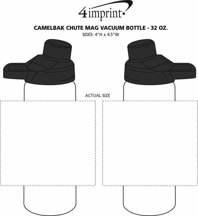 Imprint Area of CamelBak Chute Mag Vacuum Bottle - 32 oz.