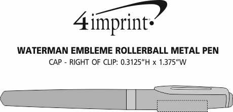 Imprint Area of Waterman Embleme Twist Metal Pen