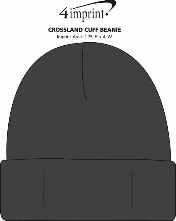 Imprint Area of Crossland Cuff Beanie