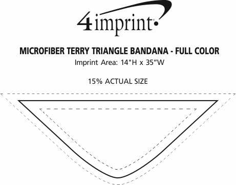 Imprint Area of Microfiber Terry Triangle Bandana - Full Color