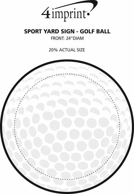 "Imprint Area of Sport Yard Sign - Golf Ball - 24"" x 24"""
