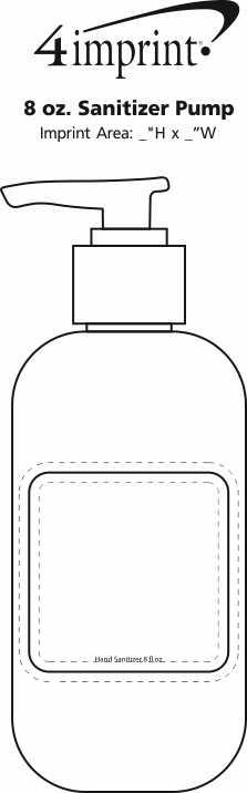 Imprint Area of 8 oz. Sanitizer Pump