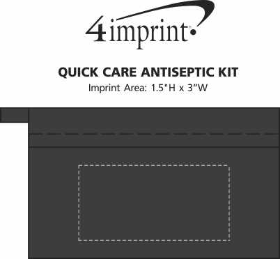 Imprint Area of Quick Care Antiseptic Kit