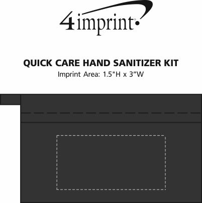 Imprint Area of Quick Care Hand Sanitizer Kit