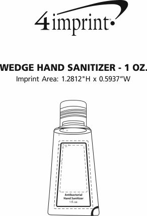 Imprint Area of Wedge Hand Sanitizer - 1 oz.