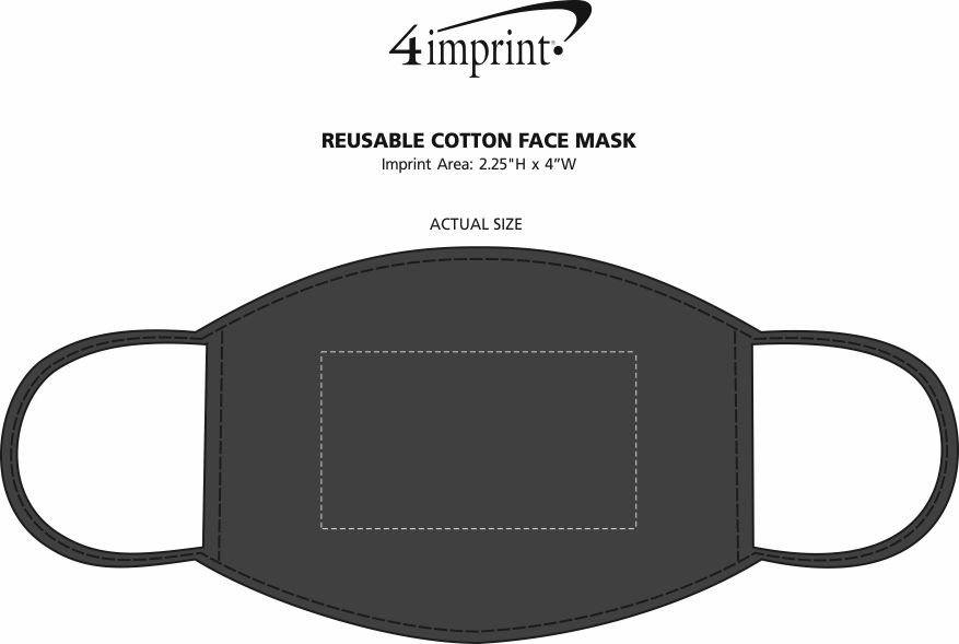 Imprint Area of Reusable Cotton Face Mask