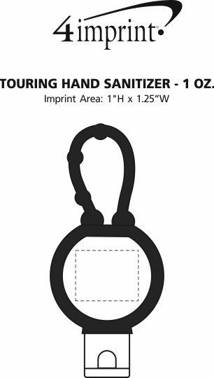 Imprint Area of Touring Hand Sanitizer - 1 oz.