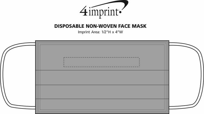 Imprint Area of Disposable Non-Woven Face Mask