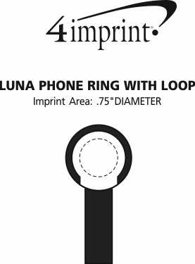 Imprint Area of Luna Phone Ring with Loop