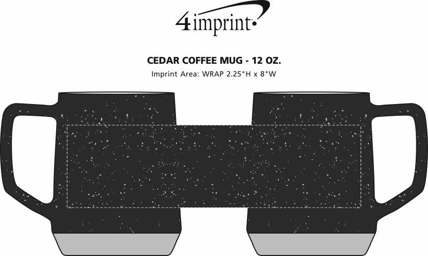 Imprint Area of Cedar Coffee Mug - 12 oz.