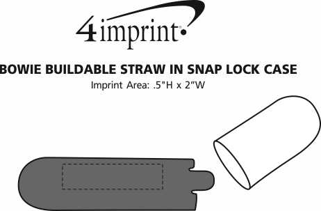 Imprint Area of Bowie Buildable Straw in Snap Lock Case
