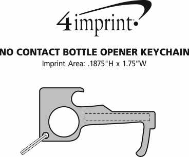Imprint Area of No Contact Bottle Opener Keychain