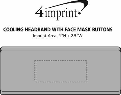 Imprint Area of Cooling Headband with Face Mask Buttons
