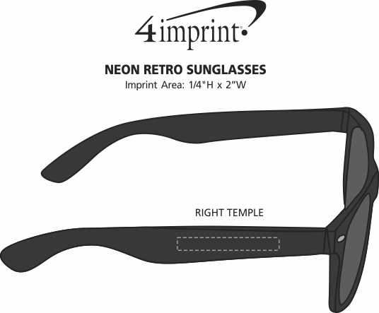 Imprint Area of Neon Retro Sunglasses