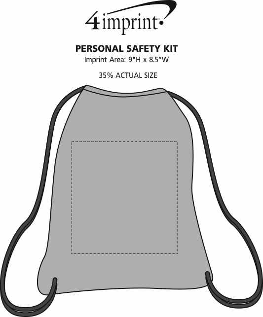 Imprint Area of Personal Safety Kit