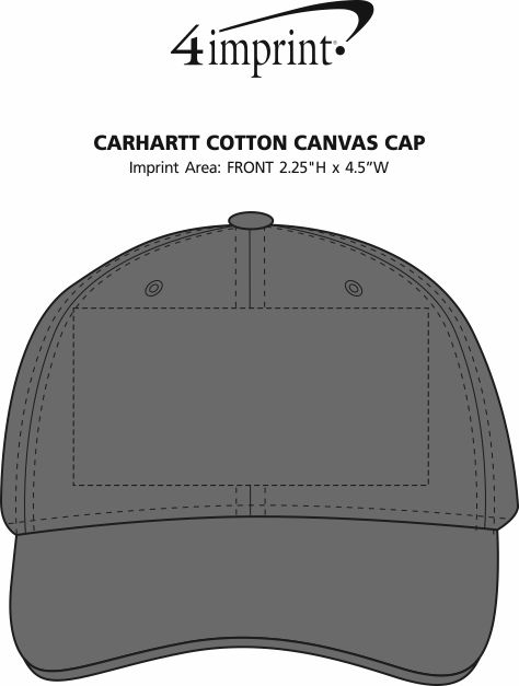 Imprint Area of Carhartt Cotton Canvas Cap