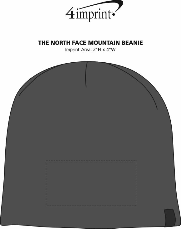 Imprint Area of The North Face Mountain Beanie