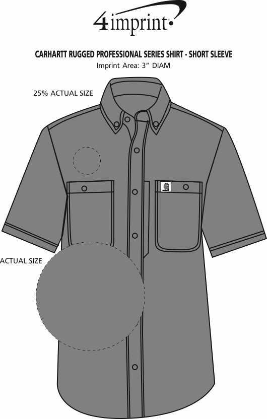 Imprint Area of Carhartt Rugged Professional Series Shirt - Short Sleeve