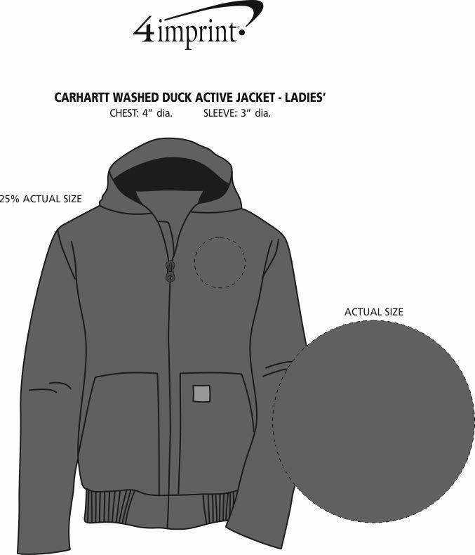 Imprint Area of Carhartt Washed Duck Active Jacket - Ladies'