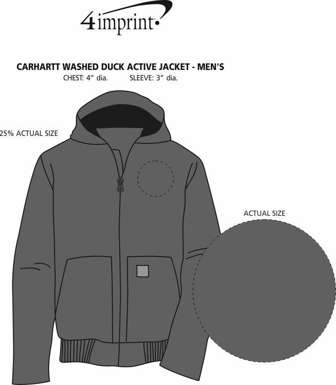 Imprint Area of Carhartt Washed Duck Active Jacket - Men's