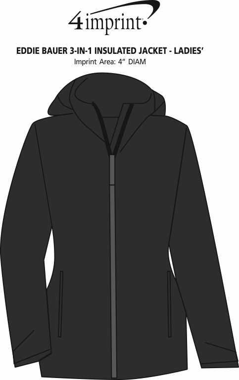 Imprint Area of Eddie Bauer 3-in-1 Insulated Jacket - Ladies'