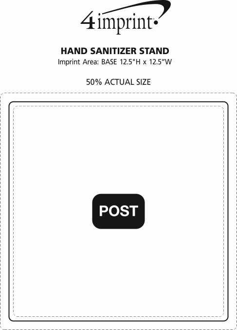Imprint Area of Hand Sanitizer Stand