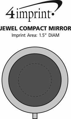 Imprint Area of Jewel Compact Mirror