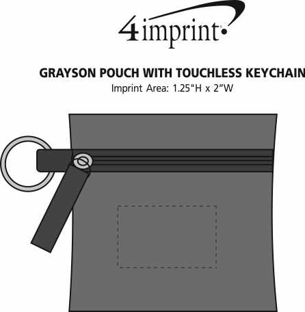 Imprint Area of Grayson Pouch with Touchless Keychain