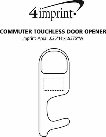 Imprint Area of Commuter Touchless Door Opener