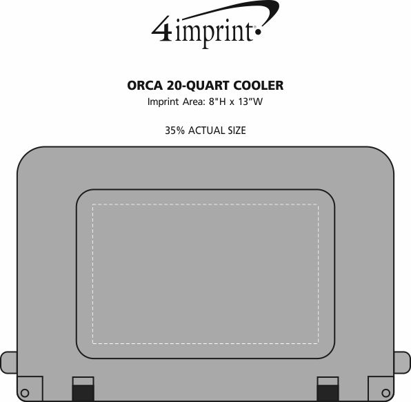 Imprint Area of Orca 20-Quart Cooler