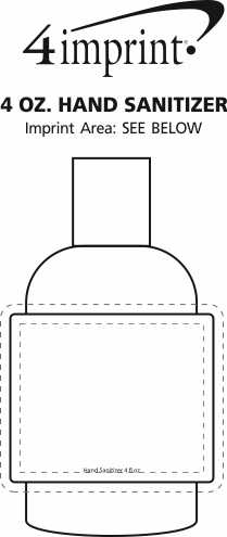 Imprint Area of 4 oz. Hand Sanitizer