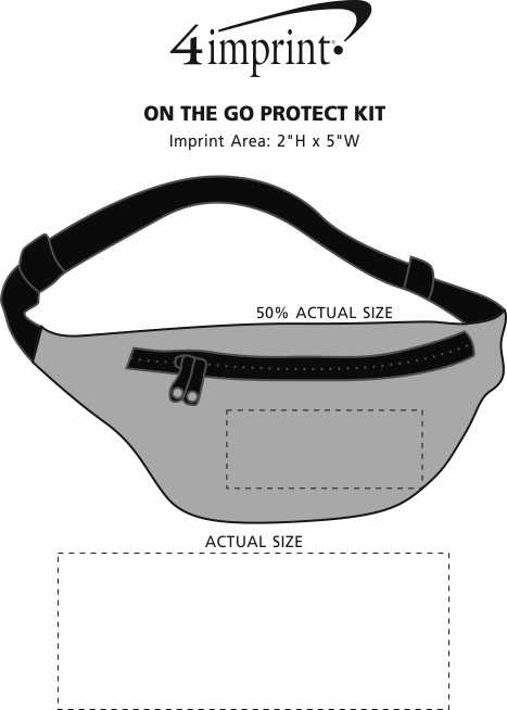 Imprint Area of On The Go Protect Kit