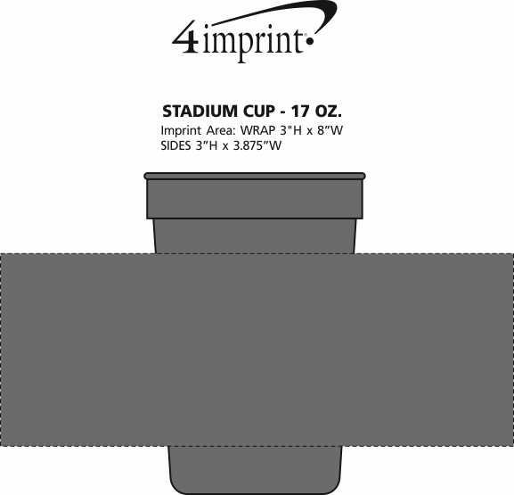 Imprint Area of Stadium Cup - 17 oz.