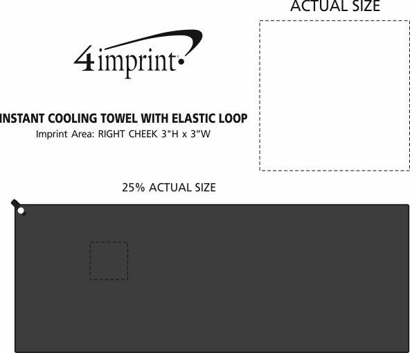 Imprint Area of Instant Cooling Towel with Elastic Loop