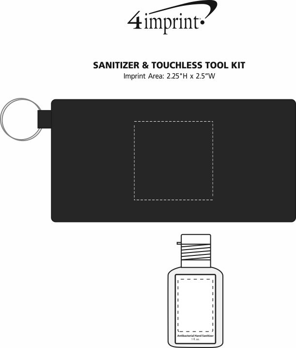 Imprint Area of Sanitizer & Touchless Tool Kit