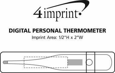 Imprint Area of Digital Personal Thermometer