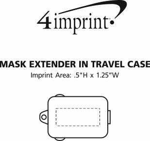 Imprint Area of Mask Extender in Travel Case
