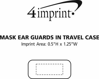 Imprint Area of Mask Ear Guards in Travel Case