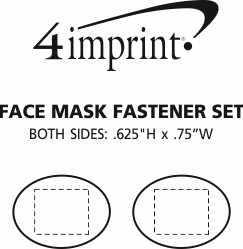 Imprint Area of Face Mask Fastener Set