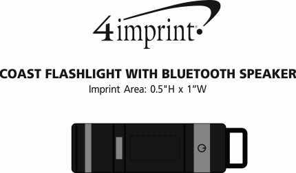 Imprint Area of Coast Flashlight with Bluetooth Speaker