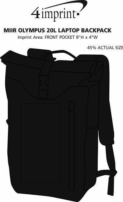 Imprint Area of Miir Olympus 20L Laptop Backpack