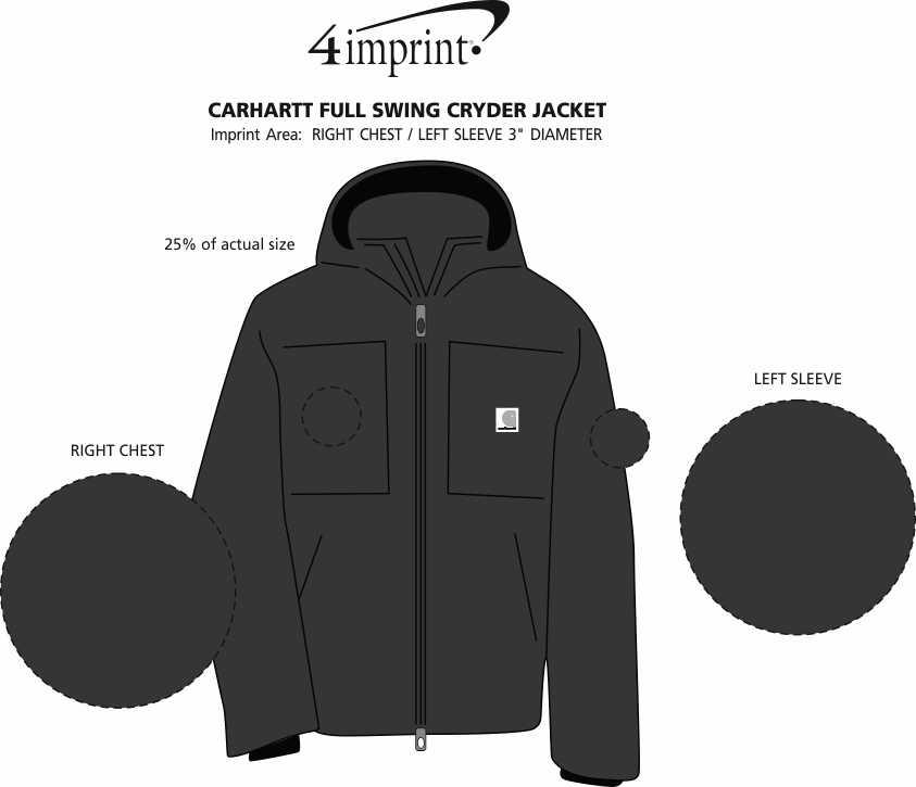 Imprint Area of Carhartt Full Swing Cryder Jacket