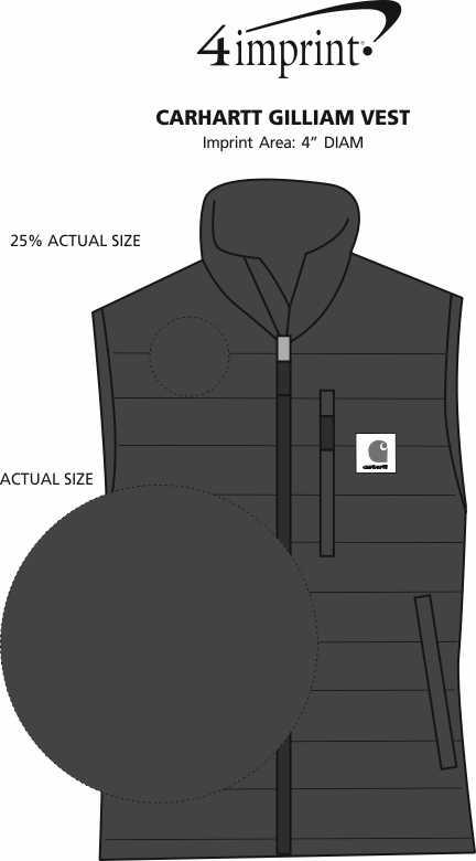 Imprint Area of Carhartt Gilliam Vest